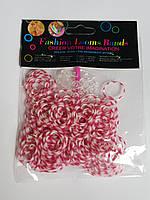 Резинки для плетения браслетов Красно-белые 200шт