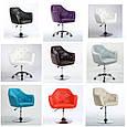 Кресло -стул визажный , барный код 500 кожзам  цвет на выбор., фото 5