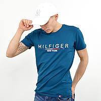 Мужская футболка Tommy Hilfiger (реплика) морская волна