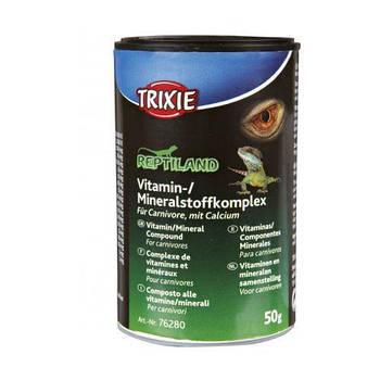 Добавка Trixie для мясоедных рептилий витаминная с кальцием 50 г