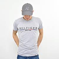 Мужская футболка Tommy Hilfiger (реплика) серый меланж