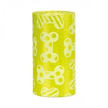 Пакеты Trixie для диспенсеров фекалий желтые сменные M 4*20шт/упак