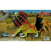 Сборная модель Мир деревянных игрушек Лев (Е013с)