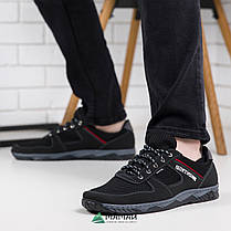Кроссовки мужские сетка чорние, фото 3