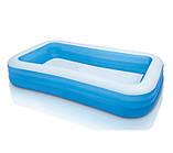 Детский надувной бассейн Intex 305x183x56 см большой семейный для дома и дачи, для детей и малышей 58484, фото 4