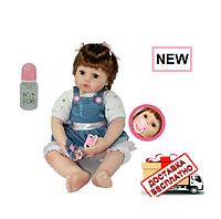 Детская большая реалистичная виниловая Кукла Reborn 60 см.