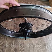 Мотор-колесо редукторное заднее 48V 500W(1000w) для фэтбайка 26/4 fatbike