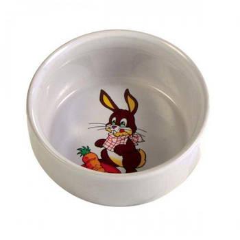 Миска керамика для кролика 0,3л/11см