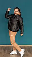 Модная демисезонная женская куртка из эко кожи (48-50-52 р), доставка по Украине Укрпочта,НП,Жастин