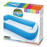 Детский надувной бассейн Intex 305x183x56 см большой семейный для дома и дачи, для детей и малышей 58484, фото 6