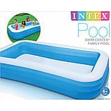 Детский надувной бассейн Intex 305x183x56 см большой семейный для дома и дачи, для детей и малышей 58484, фото 8