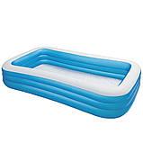 Детский надувной бассейн Intex 305x183x56 см большой семейный для дома и дачи, для детей и малышей 58484, фото 7