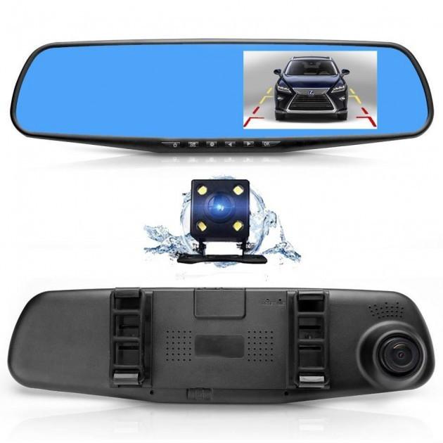 Дзеркало c відеореєстратором 1433 (камера - FHD, монітор - 4,3) - 2 камери.