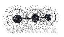 Грабли-ворошилки солнышко большие тракторные на 3 колеса (1,8м)