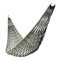 Гамак сетчатый веревочный походный Темно-зеленый (хаки)