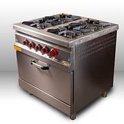 Плита 4-х конфорочная с духовым шкафом и газовым контролером M015-4X Pimak (Турция)