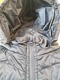 Чоловічий жилет утеплений - безрукавка стьобаний на синтепоні з плащової тканини з капюшоном від виробника 56-64, фото 7