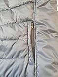 Чоловічий жилет утеплений - безрукавка стьобаний на синтепоні з плащової тканини з капюшоном від виробника 56-64, фото 9