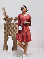 Сукня з квітковим принтом (штапель) жіноча (ПОШТУЧНО), фото 1