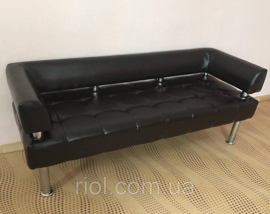 Диван офісний, диван в офіс чорний Тонус