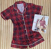Пижама женская на пуговицах с шортами, фото 1