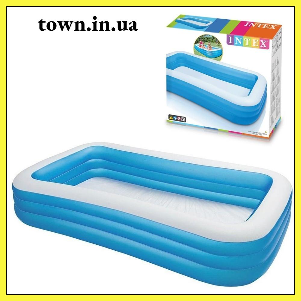 Детский надувной бассейн Intex 305x183x56 см большой семейный для дома и дачи, для детей и малышей 58484