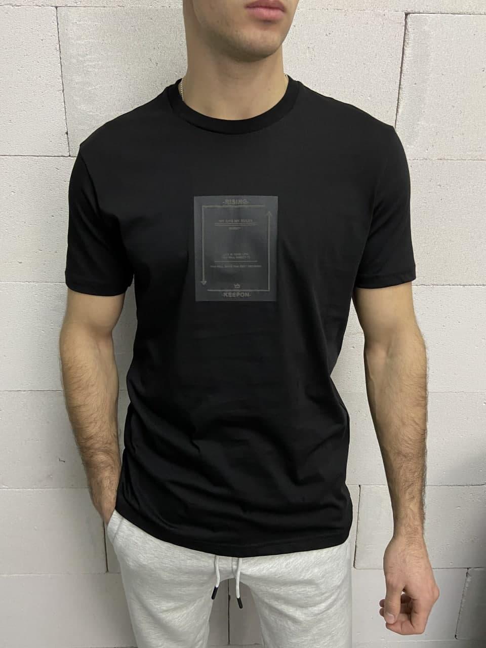 Чоловіча футболка чорна Breezy Rising