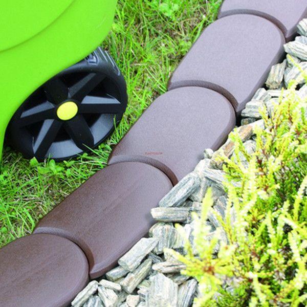 Бордюр садовый Flat, коричневый, 1,9 м