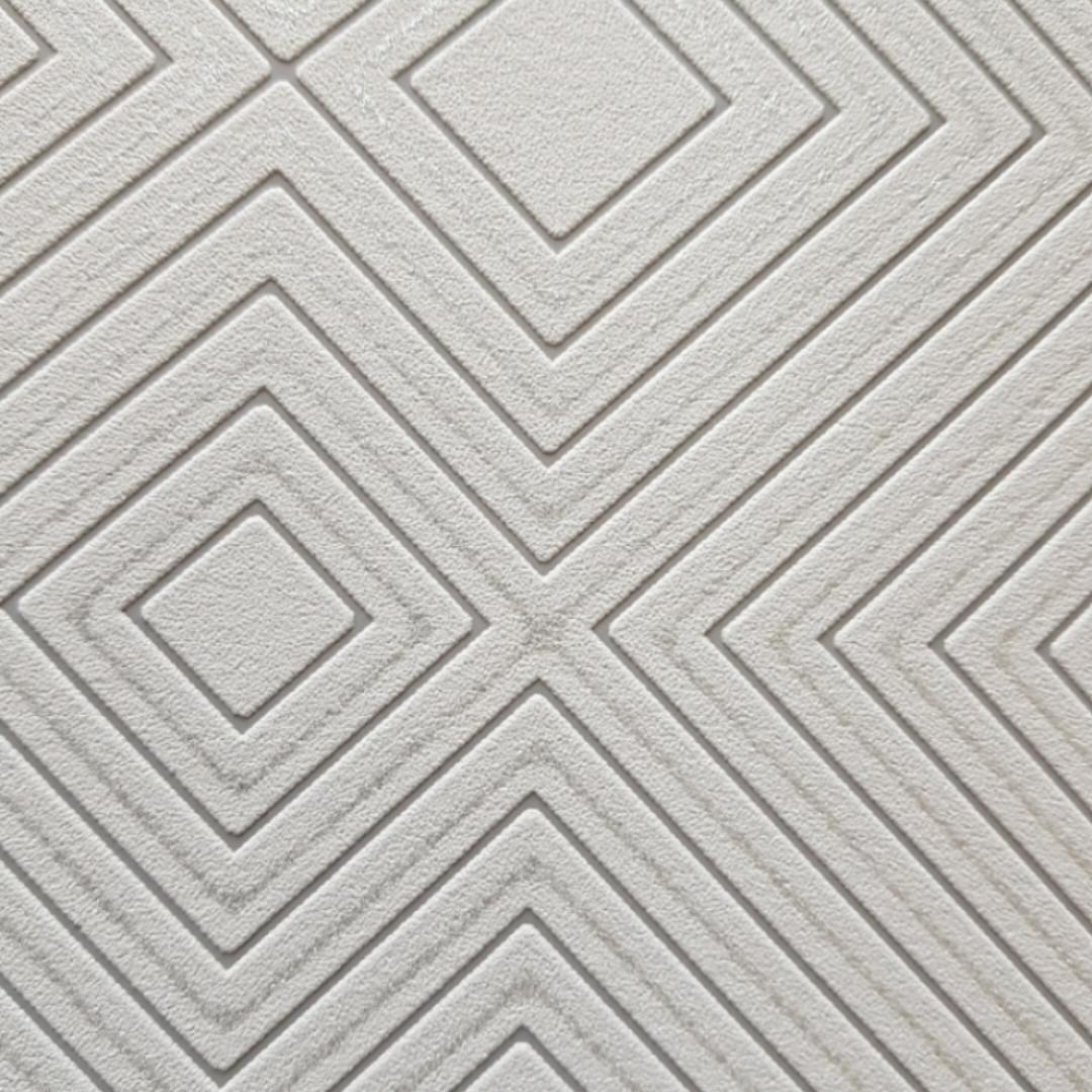 Вінілові шпалери на флізелін AS creation Attractive геометрія квадрати смуги структурні сірі сріблясті