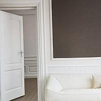 Вінілові шпалери на флізелін AS creation Attractive геометрія квадрати смуги структурні чорні сріблясті, фото 1