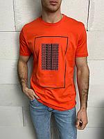 Мужская футболка оранжевая Keep On Rising, фото 1