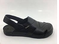 Полностью кожаные мужские ортопедические сандали, фото 1