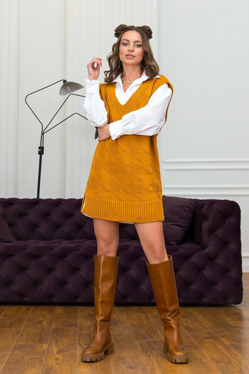 Жіночий жилет-туніка «Шанель»