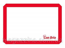 """Силиконовый коврик, """"ConBrio"""", 42 x 30см., красный"""