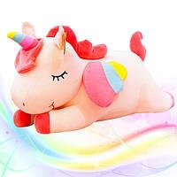 Іграшка-подушка Єдиноріг з пледом 3 в 1 Рожевий