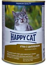 Влажный корм для котов Happy Cat (Хеппи Кет) с уткой и цыпленком консерва, 400 г