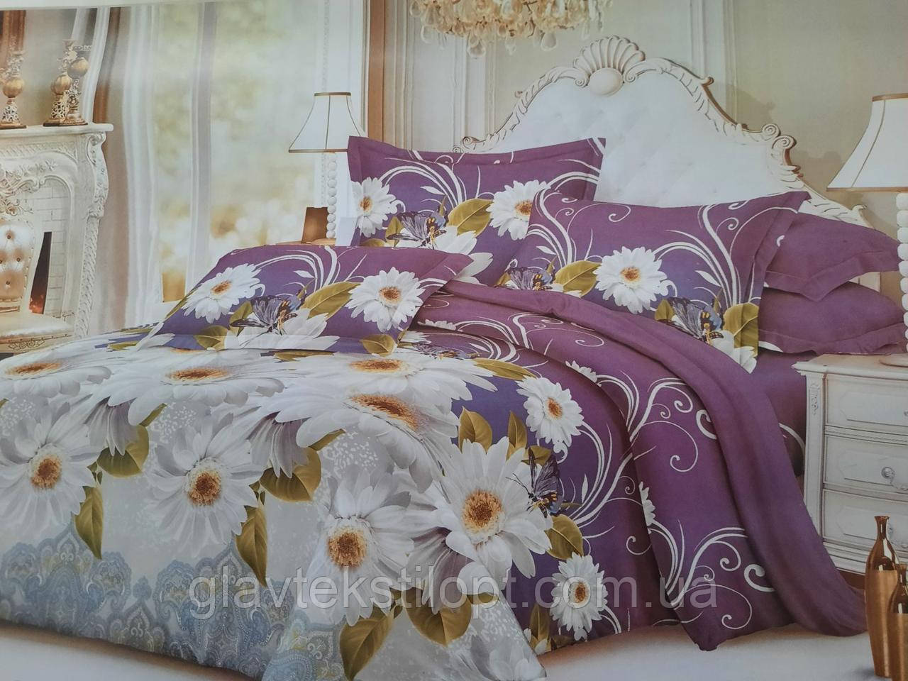 Комплект постельного белья Бязевый двуспальный ТМ ГлавТекстиль
