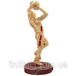 Статуэтка из бронзы «Баскетболист (золотой)» Vizuri (Визури) S05/P