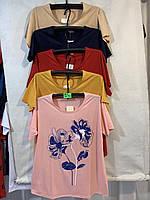 Женская футболка, 3XL-7XL рр.,  № 12140-1