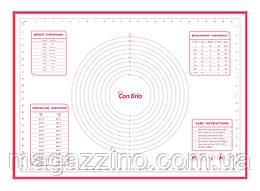 """Силиконовый коврик, """"ConBrio"""", 70 x 50см., красный"""