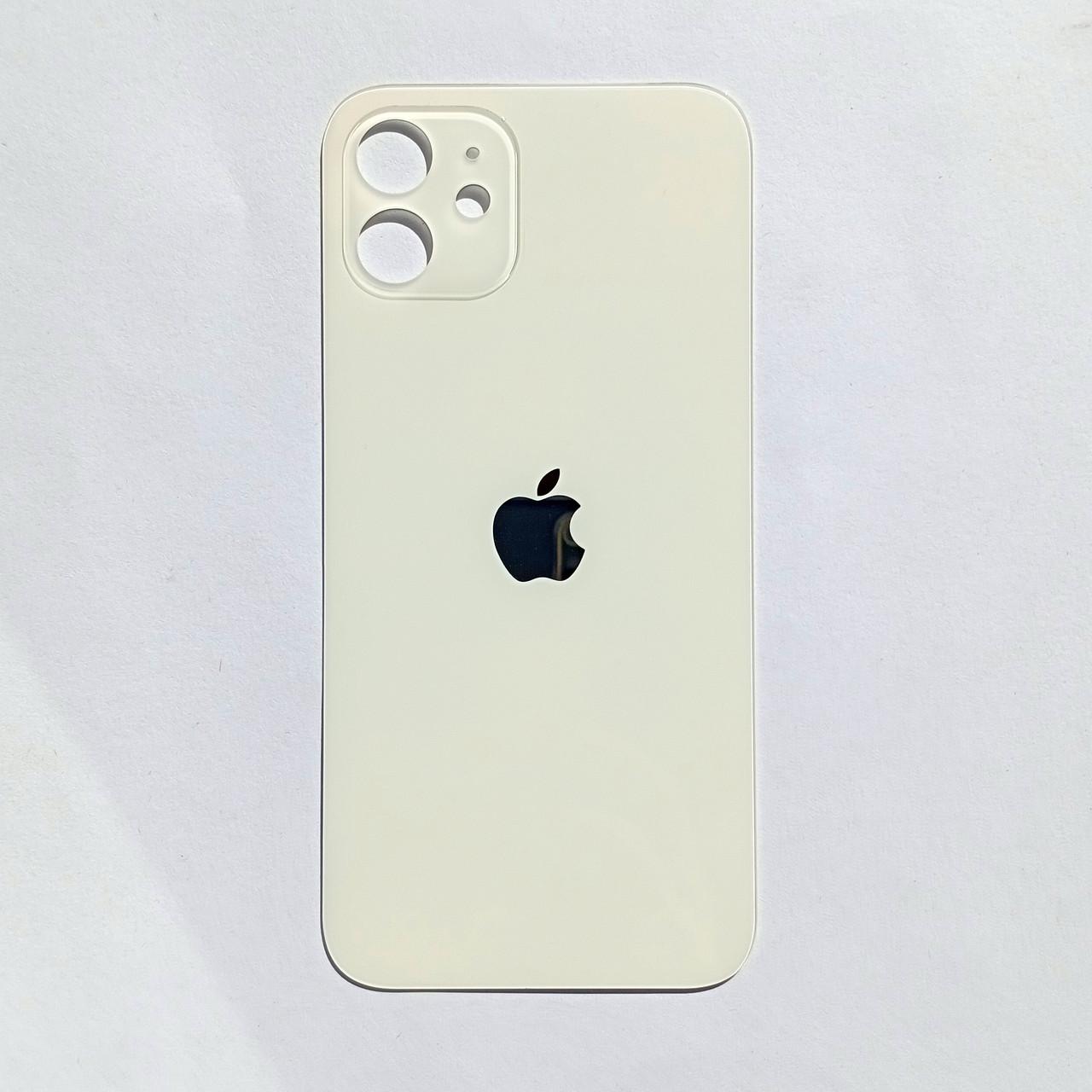 Задняя панель корпуса Novacel для Apple iPhone 12 Silver Big Hole