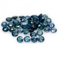 7.59 кт Природный синий сапфир круг 3.2-3.3 мм. 40 штук., фото 1