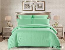 Евро комплект постельного белья страйп-сатин ST-1003