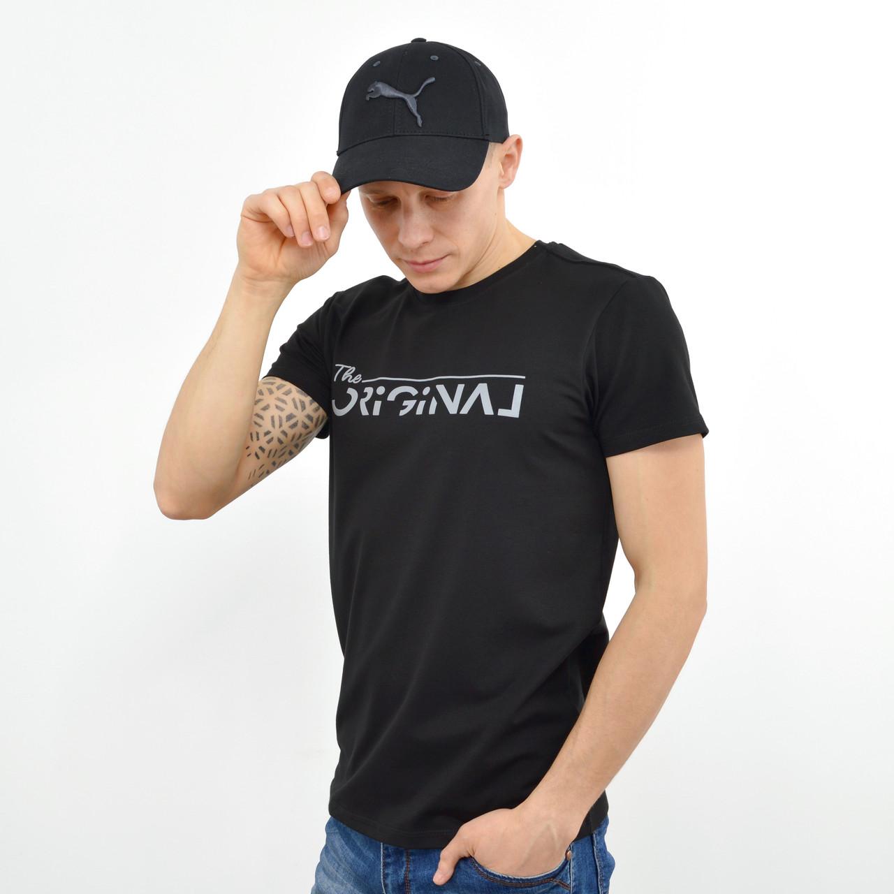 Мужская футболка ORIGINAL черный+серый