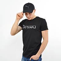 Мужская футболка ORIGINAL черный+серый, фото 1