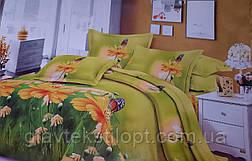 Комплект постільної білизни Бязевый двоспальний ТМ ГлавТекстиль, фото 2
