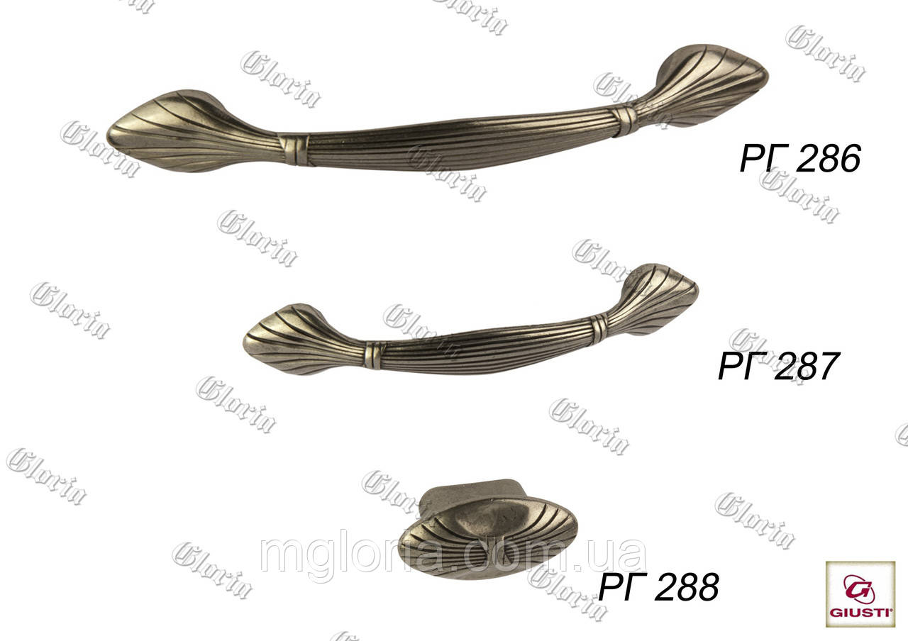 Ручки мебельные  РГ 286, РГ 287, РГ 288