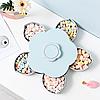 Менажница,вращающаяся тарелка-органайзер для закусок Kitchen Boxes (Цвет-голубой), фото 8