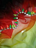 Тасьма декоративна з шипами CTU 0672 кольорова