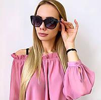 Жіночі чорно-білі сонцезахисні окуляри, фото 1